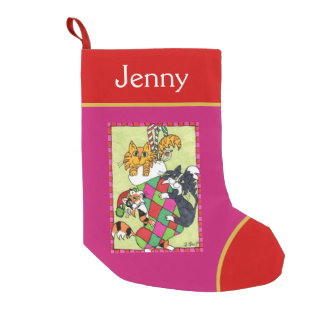 Cute Kittens Playing in a Small Christmas Stocking