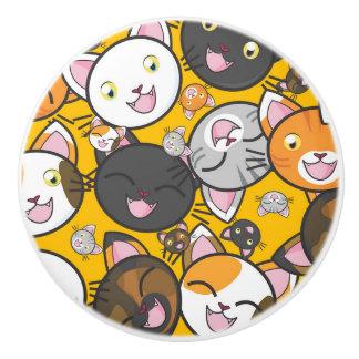 Cute Kitties Ceramic Knob