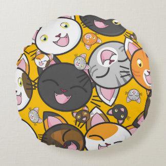 Cute Kitties Round Pillow