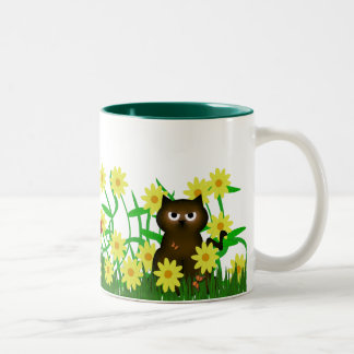 Cute Kitty and Froggy Friend Mug
