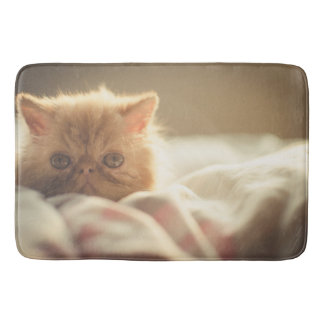 Cute kitty bath mat