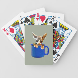 Cute kitty bicycle playing cards