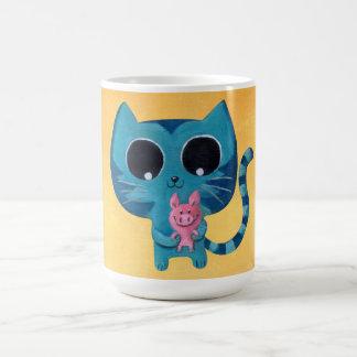 Cute Kitty Cat and Pig Coffee Mug