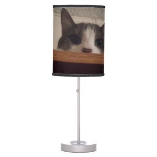 Cute Kitty Cat Peeking Out Table Lamp