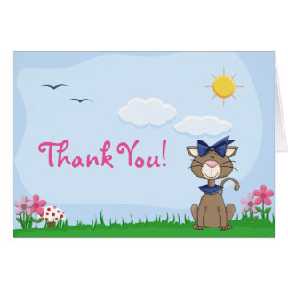 Cute Kitty Cat Thank You Card