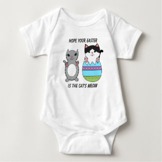 Cute Kitty Cats Easter Egg Personalize Baby Bodysuit