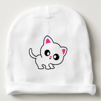 cute kitty for baby baby beanie