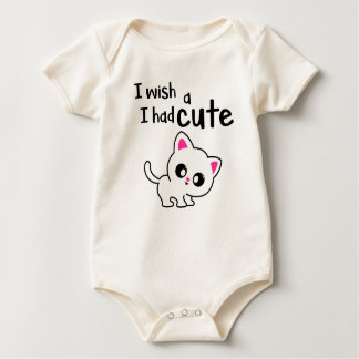 cute kitty for baby baby bodysuit