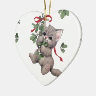 Cute Kitty Heart Ornament