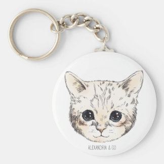 Cute kitty keychain