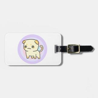 Cute Kitty Luggage Tag w/ leather strap