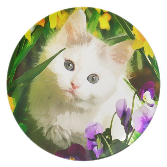 Cute Kitty Plate