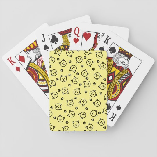 Cute Kitty Print Playing Cards