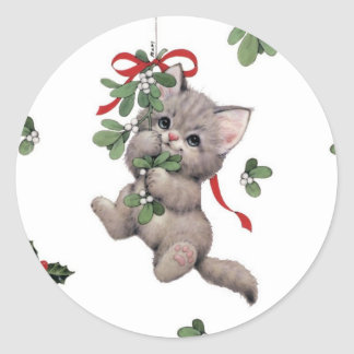 Cute Kitty Round Stickers x20