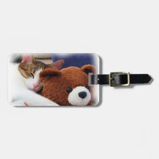 Cute Kitty Teddy Bear Luggage Tag