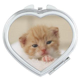 Cute kitty travel mirror