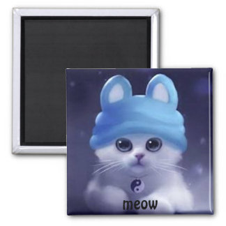 cute kitty with hat magnet