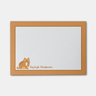 Cute Kitty with Mouse Post-It Note