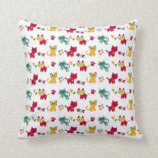 Cute Kittys Pattern Throw Pillow