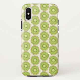Cute Kiwi Fruit Pattern iPhone X Case