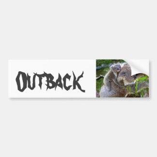 Cute Koala Bear Destiny Nature Aussi Outback Bumper Sticker