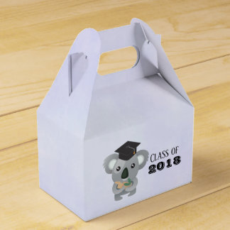 Cute Koala Bear in Graduation Cap Class of Favor Box
