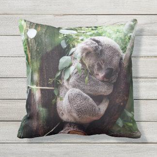 Cute Koala Bear relaxing in a Tree Throw Pillow