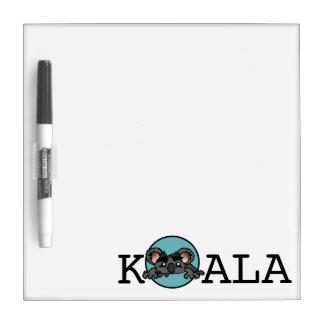 CUTE KOALA BEAR SMALL DRY ERASE BOARD