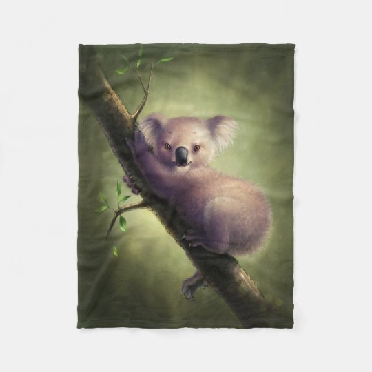 Cute Koala Bear Small Fleece Blanket