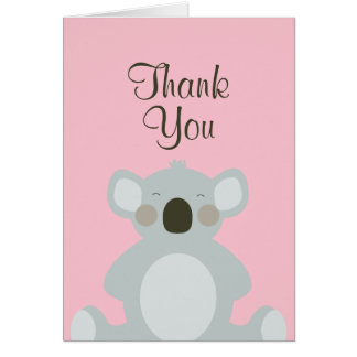 Cute Koala Bear Thank You Card