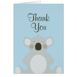 Cute Koala Bear Thank You Card