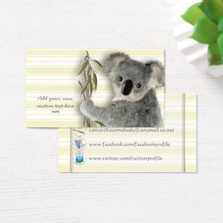 Cute Koala Business Card