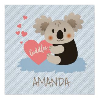 Cute Koala Cuddles ID386 Perfect Poster