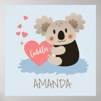Cute Koala Cuddles ID386 Poster