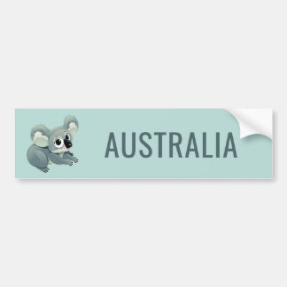 Cute Koala custom text bumpersticker Bumper Sticker