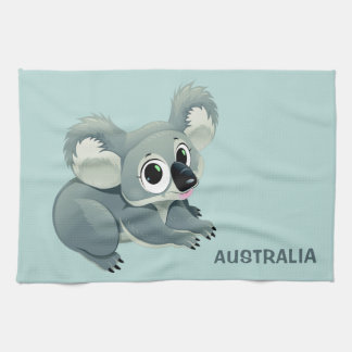 Cute Koala custom text hand towel