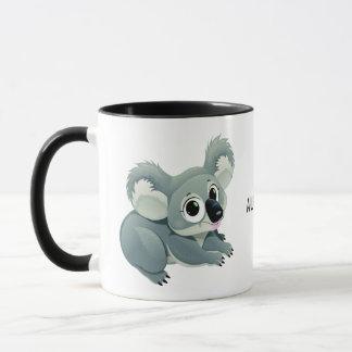 Cute Koala custom text mugs