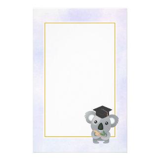 Cute Koala in a Black Graduation Cap Stationery