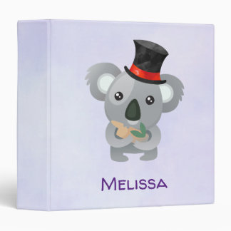 Cute Koala in a Black Top Hat Binder