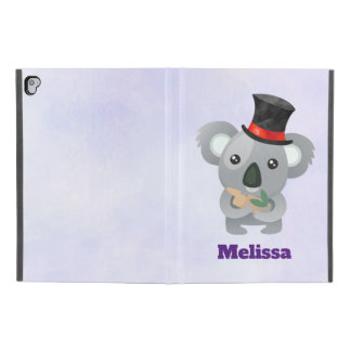 "Cute Koala in a Black Top Hat Custom iPad Pro 9.7"" Case"
