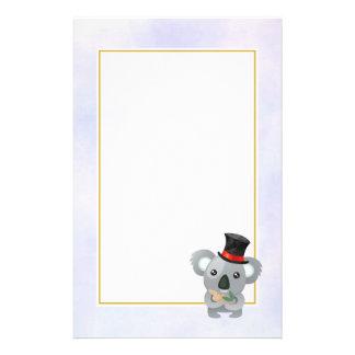Cute Koala in a Black Top Hat Stationery