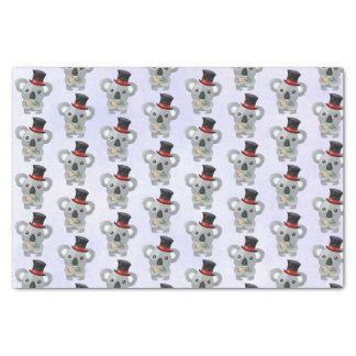 Cute Koala in a Black Top Hat Tissue Paper