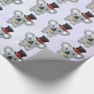 Cute Koala in a Black Top Hat Wrapping Paper