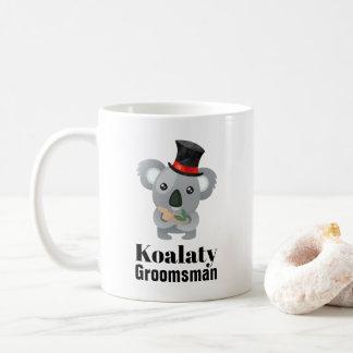 Cute Koala Pun Koalaty Groomsman Coffee Mug