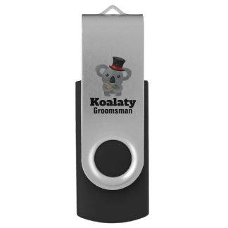 Cute Koala Pun Koalaty Groomsman USB Flash Drive