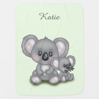 Cute Koala with Baby Baby Blanket