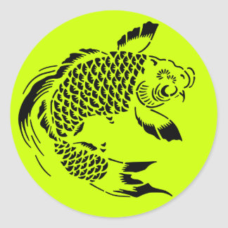 Cute Koi- Any Background Color! Classic Round Sticker