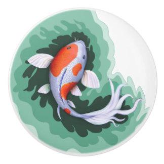 Cute Koi Fish Art Ceramic Knob