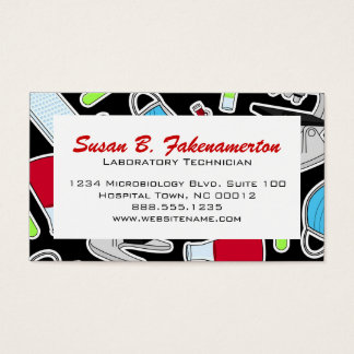 Cute Laboratory Pattern Business Card