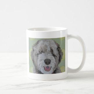 Cute Labradoodle Dog art Ball Lover Mug